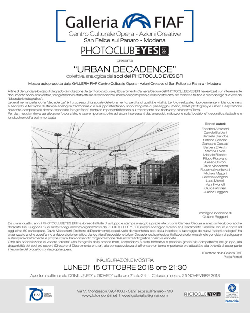 2018_10 - Urban decadence - Collettiva Analogica.indd